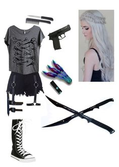 """""""Zombie Apokalypse"""" by ezra0 ❤ liked on Polyvore featuring Mad Love, women's clothing, women's fashion, women, female, woman, misses and juniors"""