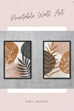 Plant Painting, Plant Art, Diy Canvas Art, Diy Wall Art, Free Printable Art, Leaf Art, Wall Art Quotes, Abstract Wall Art, Botanical Art