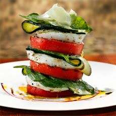 Buffalo Caprese With Grilled Tomato And Zucchini