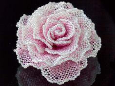 Right angle weave rose