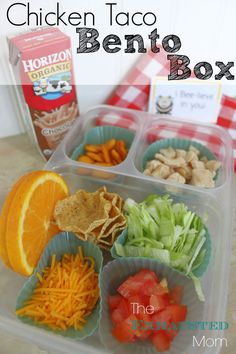 Perfect for back to school lunches: Chicken Taco Bento Box. Perfect for back to school lunches: Chicken Taco Bento Box. Creative School Lunches, School Lunch Recipes, Back To School Lunch Ideas, Lunch To Go, Lunch Kids, Cold Lunch Ideas For Kids, School Lunch Prep, School Recipe, School Snacks For Kids