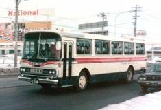 国道36号線を行く、ふせ観光バスの日野RC(T)型。 札22あ13-04 背景のナショナルの看板、「クイントリックス」ってなつかしいですね。 1976...