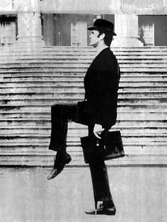 John Cleese in the Ministry of silly walks
