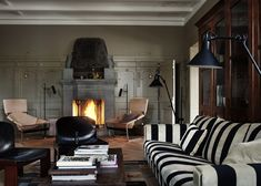 Ilse Crawford of Studioilse has converted a house in Stockholm into a boutique hotel filled with wood, leather and velvet. Hotel Stockholm, Stockholm Sweden, Architecture Design, Home And Deco, Lounges, Scandinavian Design, Scandinavian Furniture, Scandinavian Living, Modern Furniture