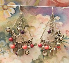 Bohemian Vintage Jewelry Dangle Earrings by DLSpecialties on Etsy