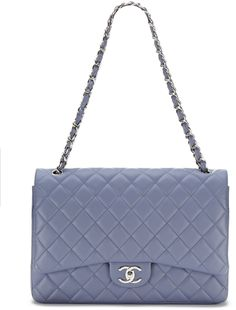 Chanel Lavender Quilted Lambskin Maxi Classic 2.55 Double Flap Bag