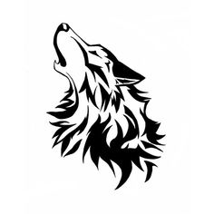 this is showing a wolf howling. there are many different layers of lines. yes because if it wasn't it wouldn't look like a wolf. I like it because it's a cool approach to a wolf. Tribal Tattoos, Tribal Wolf Tattoo, Wolf Tattoos, Trendy Tattoos, Celtic Tattoos, Lobo Tribal, Arte Tribal, Tribal Art, Wolf Stencil