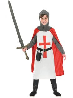 Medieval knight men at arms short surcoat garbtunic pinterest boys crusader knight child costume diy fashion solutioingenieria Choice Image