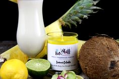 Lemon Colada - Scented Candles, Handmade Candles, Scented Candle, Aromatherapy Candles, Lemon Candle, Pineapple Candle, Coconut Candle