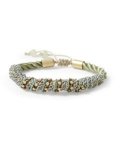 twisted chain and cord bracelet / tinley road