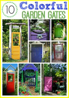 10 colorful garden gate ideas - easy way to add a bit of whimsy to your garden!