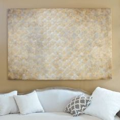 Gilded Quatrefoil Hand Painted Canvas   Ballard Designs in silver for over the headboard of the bed?