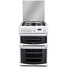 Buy Hotpoint Cannon CH60GCIW Gas Cooker, White Online at johnlewis.com