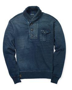 Indigo Fleece Shawl Pullover - Polo Ralph Lauren Sweatshirts - RalphLauren.com  Polo Ralph Lauren 6251b43231