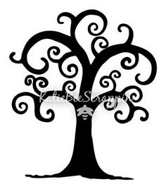 freebie curly tree svg