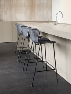 Chairs With Farmhouse Table Refferal: 8184639573 Rattan Counter Stools, Rattan Stool, Kitchen Stools, Modern Bar Stools, Modern Dining Chairs, Upholstered Dining Chairs, Ikea Chairs, Interior S, Kitchen Interior