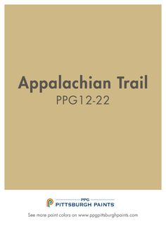 Application Trail PPG12-22 from PPG Pittsburgh Paints. Explore neutrals with this golden tan.