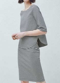 Striped cotton blouse - Shirts for Woman | MANGO Slovenia