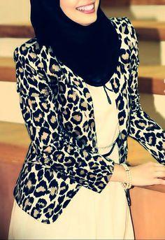 Dress + Blazer , Hijab Style.
