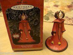 1999 Hallmark Keepsake Ornament Star Wars Queen Amidala & Max Rebo Band set 3