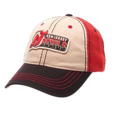 Zephyr New Jersey Devils Roader Mesh Cap (36 CAD) ❤ liked on Polyvore featuring men's fashion, men's accessories, men's hats, mens caps and hats and mens mesh hats