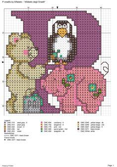 alfabeto degli orsetti : P