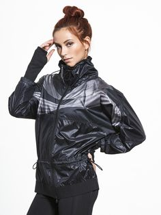 Run Climastorm Jacket by ADIDAS BY STELLA MCCARTNEY in Black