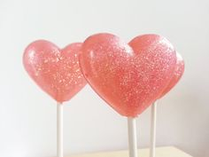 Heart Lollipops Pink Wedding Favor Party by SweetCarolineConfect, $12.00 Wedding Favors, Party Favors, Lollipops, Diy Ideas, Valentines Day, Baby Shower, Weddings, Heart, Unique Jewelry