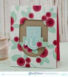 Happiest Birthday Card by Betsy Veldman for Papertrey Ink (August 2015)
