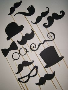 Photo Booth props x 13 !, Wedding, Mustache, top hat, lips, vintage, prop Sticks | eBay