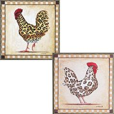 This just cracks me up. If I had a country kitchen, I would be all over this. Ceramic Rooster, Rooster Art, Rooster Decor, Rooster Kitchen, Kitchen Art, Country Kitchen, Hen Chicken, Doodle Doo, Chickens And Roosters