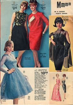 Blue lace dress  is close to what my grad dress looked like.....   mine came from the Sears Catalogue