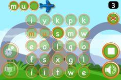 7-12 Nederlandse taal: woorden herkennen. De app is goed om woorden te maken van letters.