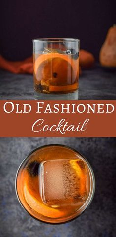 The classic old fashioned cocktail will transport you to the mad men set. Okay, not really but you will feel cool drinking it! #oldfashioned #cocktail #dishesdelish