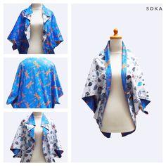$22 Two side kimono jacket with batik printed pattern #batik #fashion #womenfashion