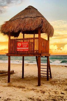 Hard Rock Hotel Cancun beach sunset, Mexico
