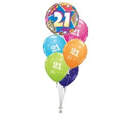 Tros Folie/Latex High-Float Ballonnen 21ste Verjaardag