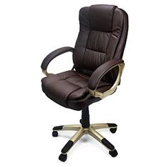 XtremepowerUS PU Leather Executive Office Desk Task Computer Chair Boss  Executive Luxury Chair Seat (Delux