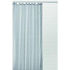 Grey Linen Look Curtain