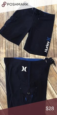 Hurley - NWOT - Men's Board/Swimming Shorts Hurley -  NWOT - Men's Dark Navy with Blue Striped Board/Swimming Shorts (size 36). Please be sure to check out all of my other men's items to bundle and save. Same day or next business day shipping is guaranteed. Reasonable offers will be considered. Hurley Swim Board Shorts