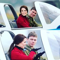 Before returning home, Kate met a pilot who showed her controls on a tutor aircraft. #duchessofcambridge #katemiddleton