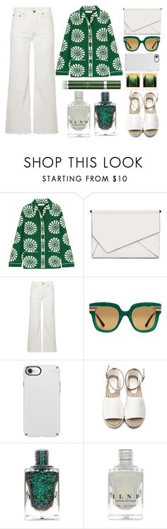 """A Touch of Green"" by juliehalloran ❤ liked on Polyvore featuring Valentino, Kendall + Kylie, Simon Miller, Gucci, Speck, Polaroid and RéVive"