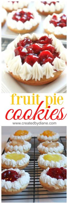fruit pie cookies www.createdbydiane.com