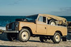 "The Series III might be more common than its predecessors, but that doesn't make this 1979 Land Rover Series III any less compelling. Completely restored, it's clad in a sand paint job, with ""limestone"" wheels, a matching sand canvas top,..."