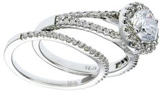 Diamond Wedding Ring Set, .44 Carat Diamonds on 14K White Gold