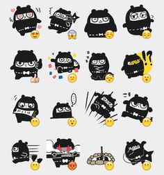 Ninja Bear Stickers Set | Telegram Stickers