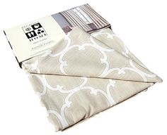 Max Studio Home Moroccan Tiles Lattice Window Panels 52 by 96-inch Set of 2 Quatrefoil Scroll Window Curtains Hidden Tabs (Taupe/Ivory), http://www.amazon.com/dp/B011S4DI0K/ref=cm_sw_r_pi_awdm_ZdlZvb0TMCKJ1