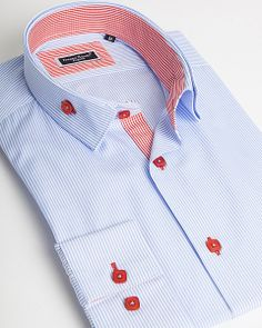 Light blue stripe dress shirt by Franck Michel