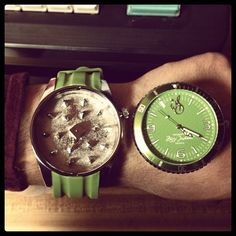 """Wrist-Watch Herb Grinder """"Hey man, do you have the time""""? """"Totally bro, let me check right quick… Dude it's 4:20."""" Stay hella furred by ensuring your herb is well ground and at the ready. The only improvement we can think of is an extra compartment to store an un-ground portion… Hint Hint – someone needs to get on that."""