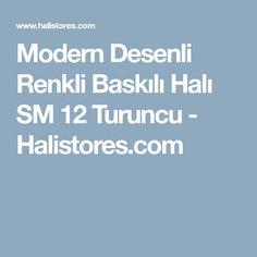 Modern Desenli Renkli Baskılı Halı SM 12 Turuncu - Halistores.com